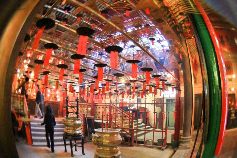 东华三院文武庙,好莱坞Rd, Tai砰单 免版税库存图片
