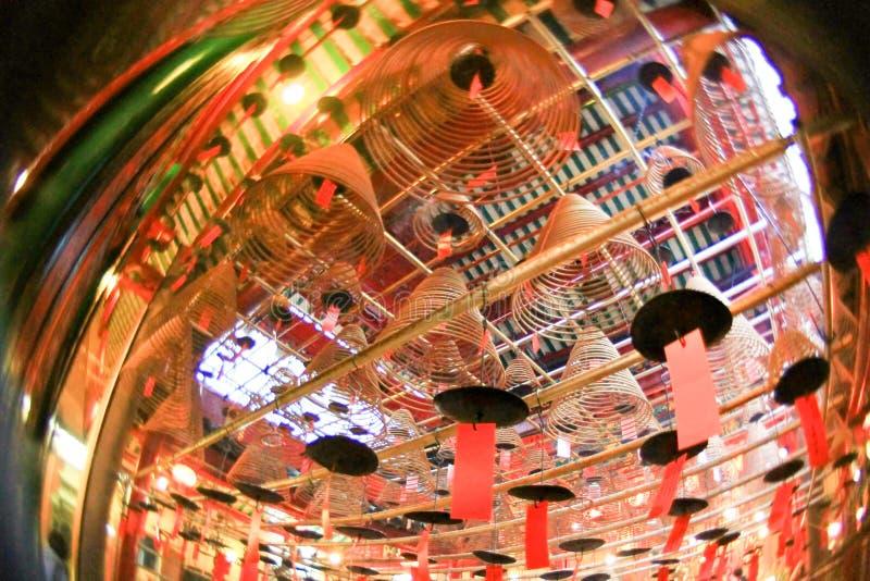 东华三院文武庙,好莱坞Rd, Tai砰单 免版税库存照片