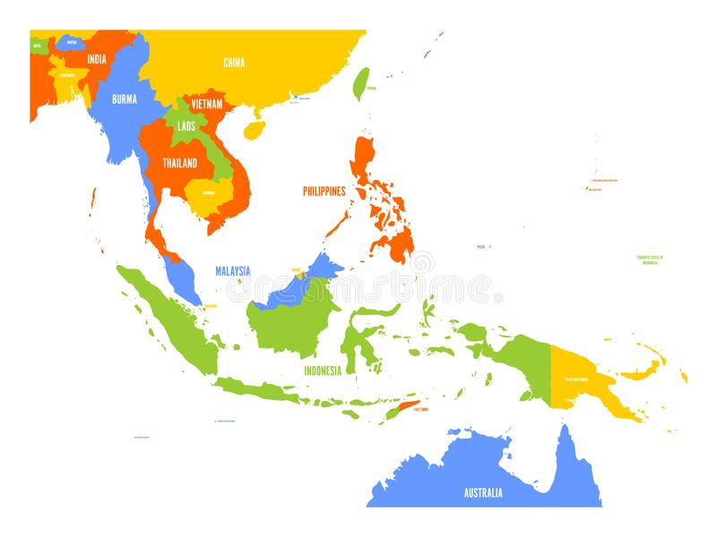 东南亚传染媒介地图  库存例证