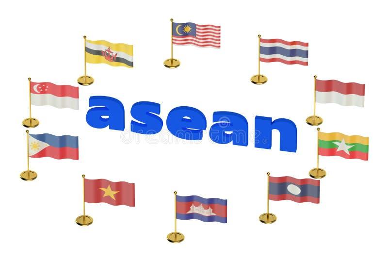 东南亚国家联盟概念 库存例证