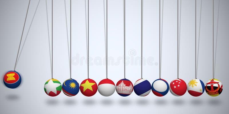 东南亚国家联盟经济共同体 库存例证