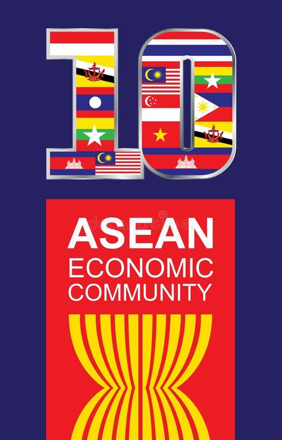 东南亚国家联盟 库存例证