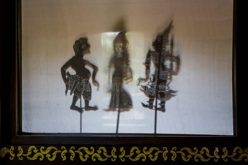 东南亚阴影木偶 免版税图库摄影