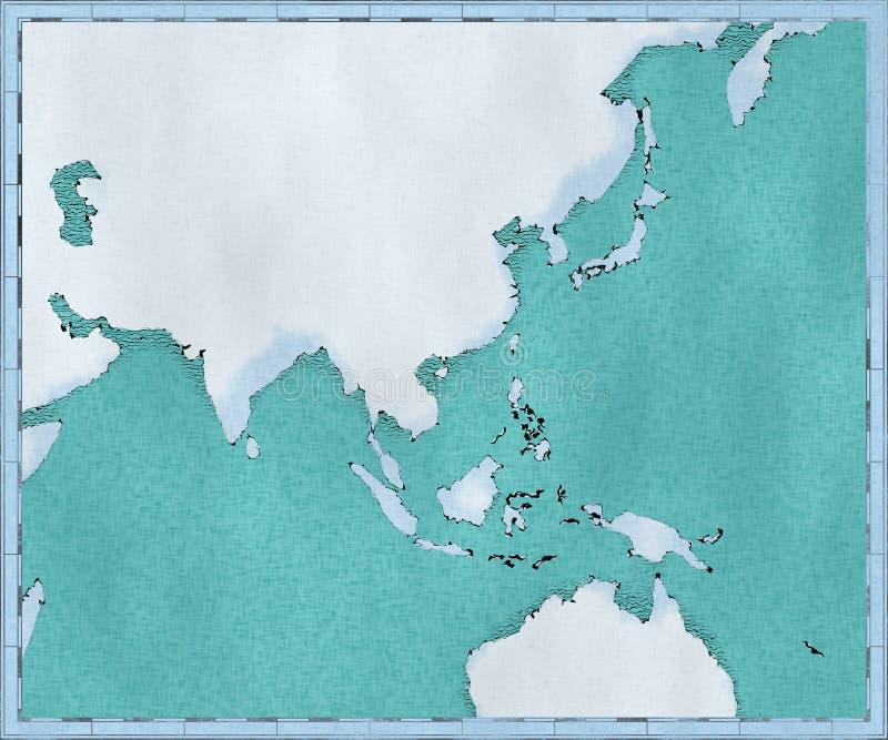 东南亚,被画的被说明的刷子冲程,地理地图,物理地图  绘图,地理地图集 皇族释放例证