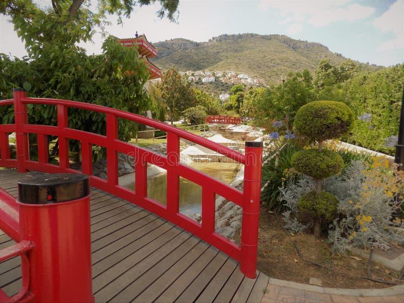 东方人公园Alhaurin de la托尔马拉加 库存照片