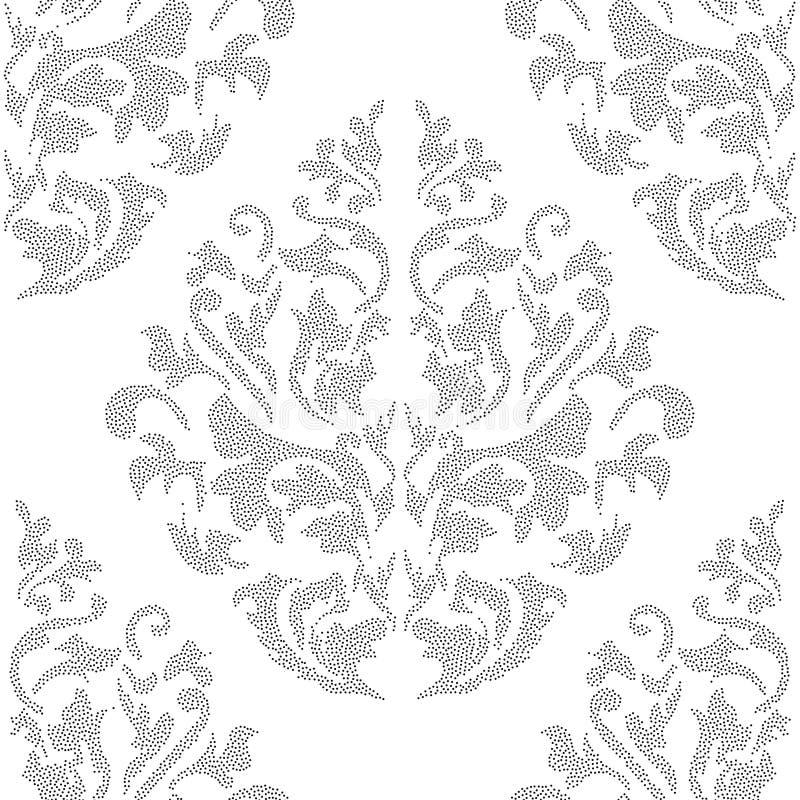东方传染媒介经典之作色的样式 与重复元素的无缝的抽象背景 东方背景 皇族释放例证