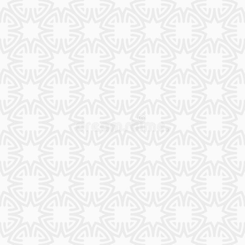 东方八个针对性的星无缝的样式 重复几何装饰品 星形状 皇族释放例证