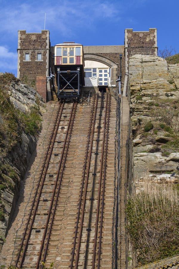 东方小山铁路推力的看法在海斯廷斯 免版税库存照片