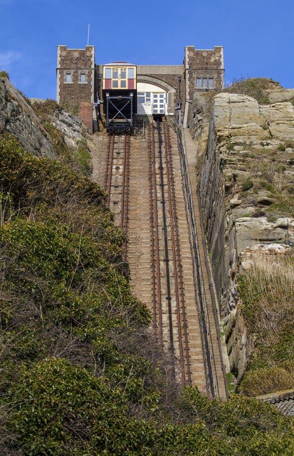 东方小山铁路推力的看法在海斯廷斯 免版税图库摄影
