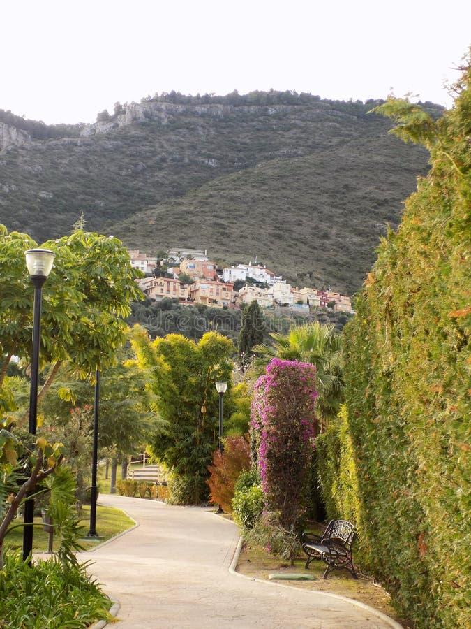 东方庭院Alhaurin de laTorre 免版税库存照片