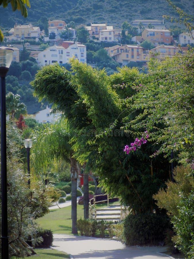 东方庭院Alhaurin de laTorre 库存图片