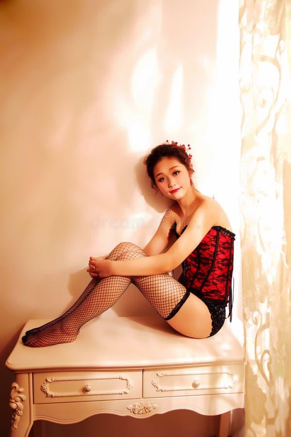 东方性感的佳丽 库存照片