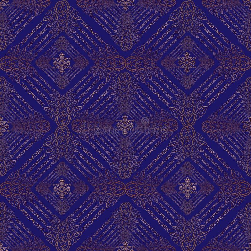 东方无缝的欢乐样式 抽象锦织地不很细背景 皇族释放例证