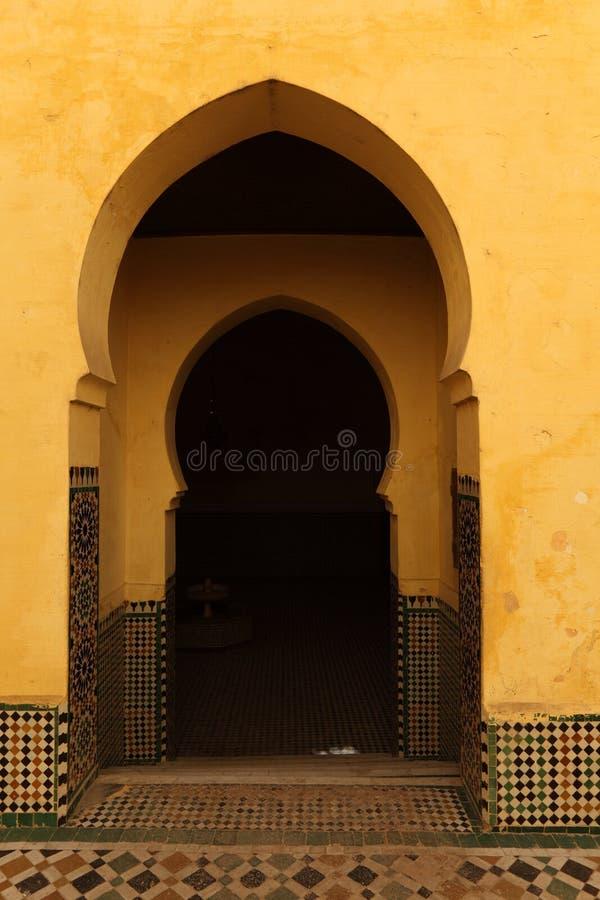 东方曲拱门在摩洛哥 免版税图库摄影