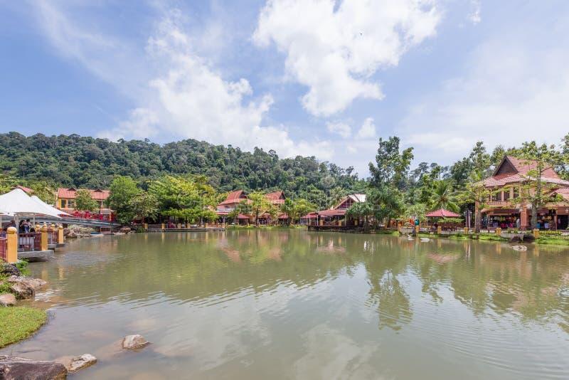 东方村庄, Langkawi,马来西亚 免版税库存照片