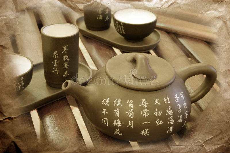 东方茶壶 图库摄影