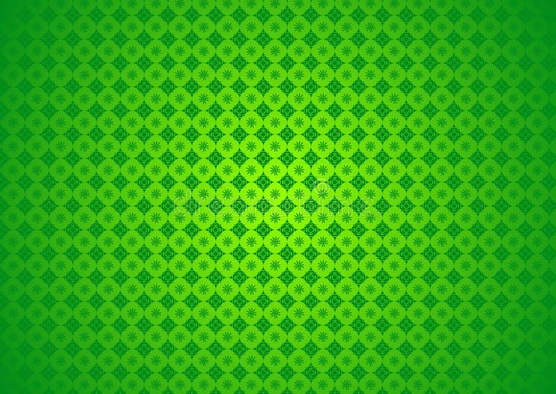 东方装饰花卉自然中国阿拉伯伊斯兰教的Imlek赖买丹月节日绿色样式纹理背景墙纸 库存例证