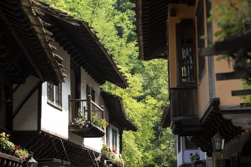 从东欧的传统房子 库存照片