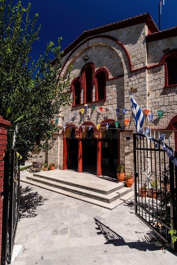 东正教入口在Pefkochori,希腊 库存照片