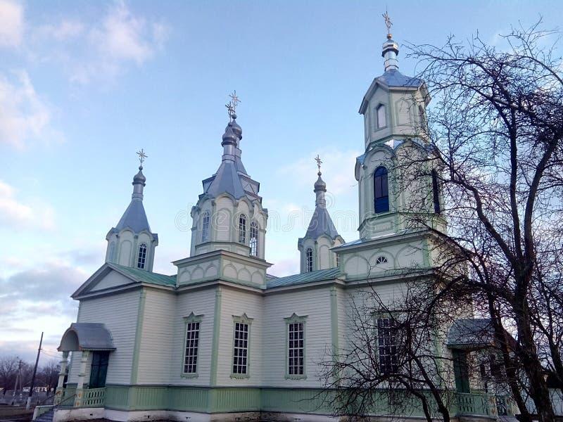 东正教在Lukashi村庄(乌克兰) 库存照片