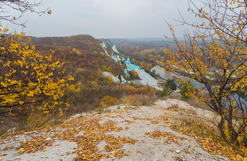东正教在Svyatogorsk,顿涅茨克地区 库存照片