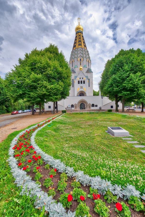 东正教教会在莱比锡,德国 免版税库存照片