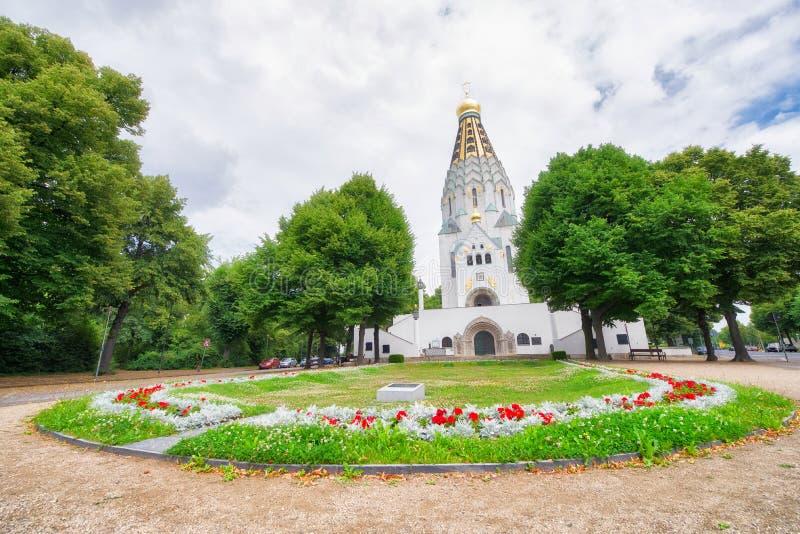 东正教教会在莱比锡,德国 免版税库存图片