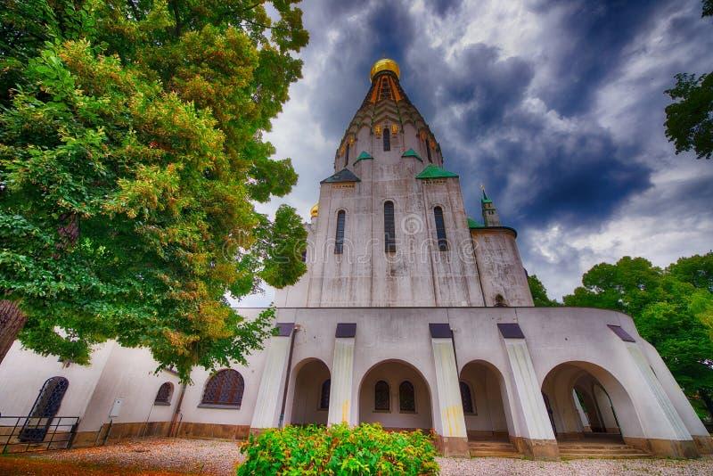 东正教教会在莱比锡,德国 库存图片