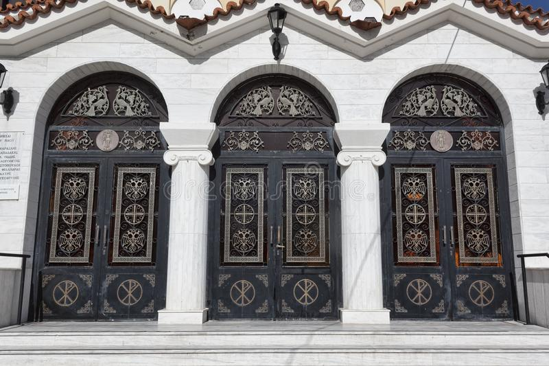 东正教的大三倍门有装饰elemen的 库存照片