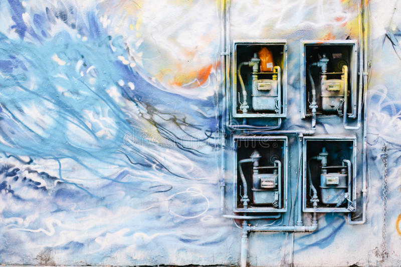 东边伦敦街道画 库存照片