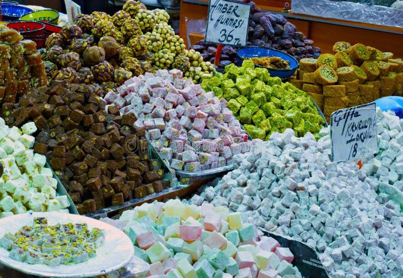 东部义卖市场-传统甜点 图库摄影