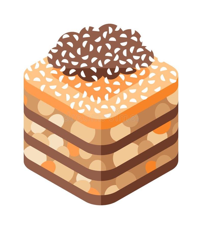 东部在白色背景传染媒介隔绝的甜点传统阿拉伯食物 向量例证