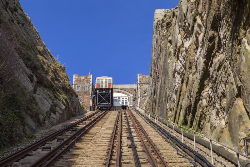 东部小山推力铁路在海斯廷斯 免版税图库摄影