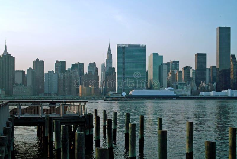 东部曼哈顿新的副上面的约克 库存照片