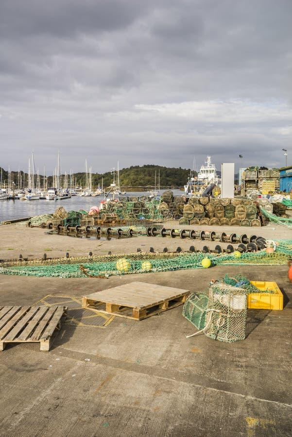东部海湾的塔伯特塔伯特港口在Argyll,苏格兰 免版税库存照片