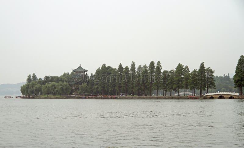 东部湖在武汉,中国 免版税库存照片