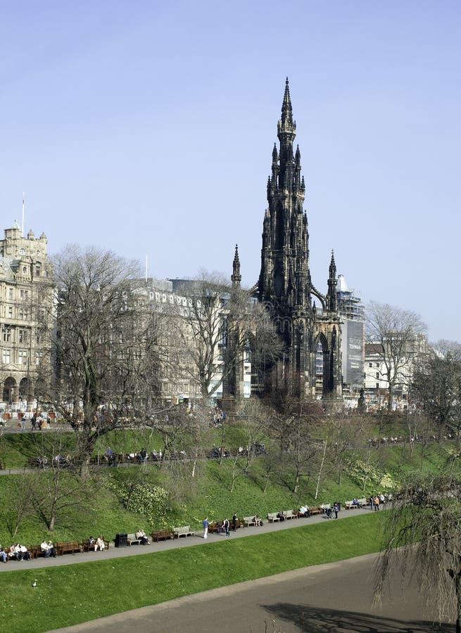 东部爱丁堡从事园艺苏格兰王子街道 库存照片