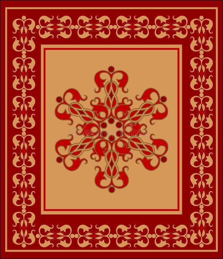 东部的地毯 库存例证