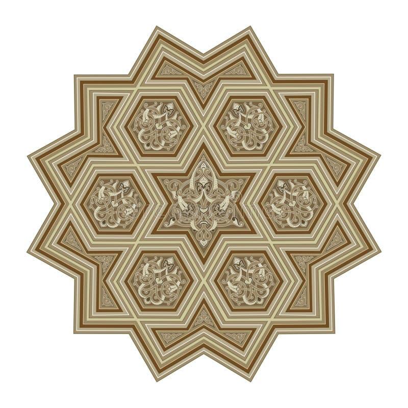东部花样式样式 装饰例证为 皇族释放例证