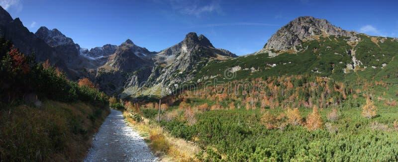 东部tatras山全景在斯洛伐克 库存图片
