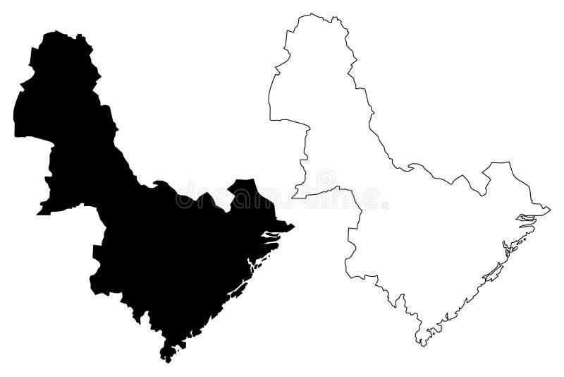 东阿格德尔郡地图传染媒介 皇族释放例证