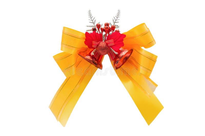 丝带各种各样的欢乐礼物的蝶形领结,隔绝在白色背景 免版税图库摄影