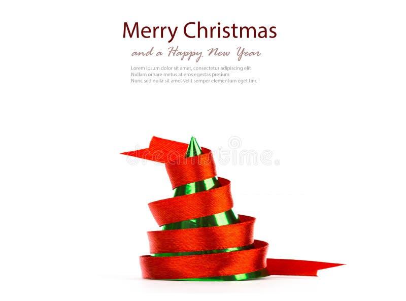 丝带圣诞树 免版税图库摄影
