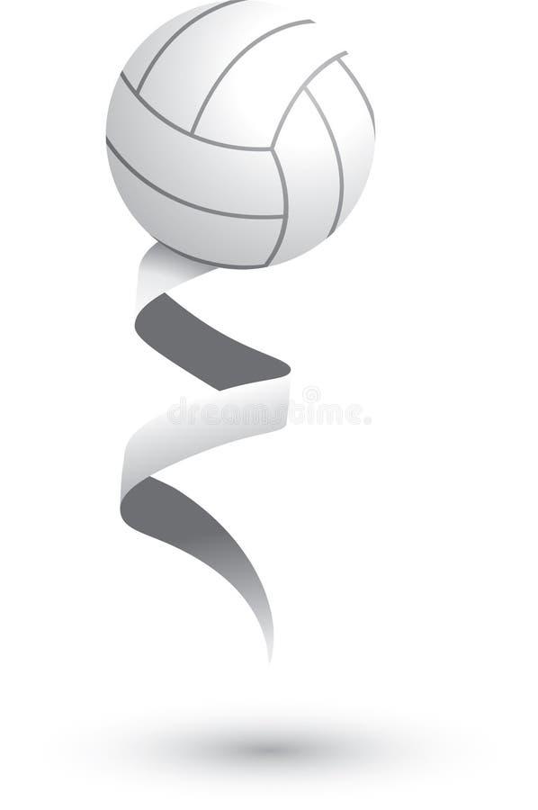 丝带排球 向量例证