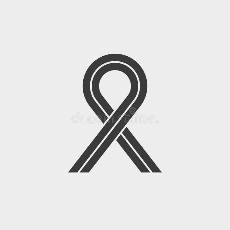 丝带援助标志 向量例证