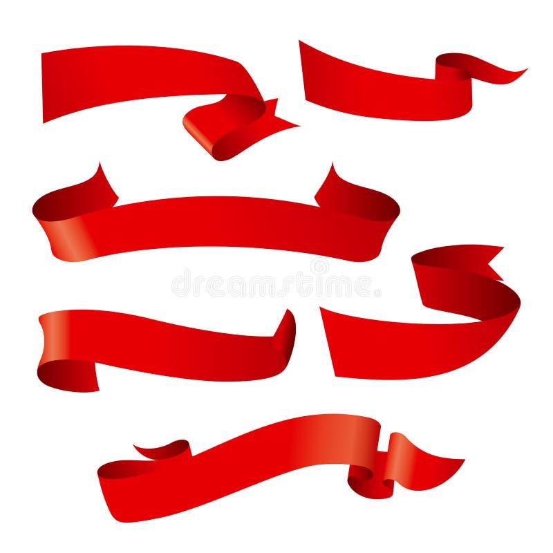 丝带样式 向量例证