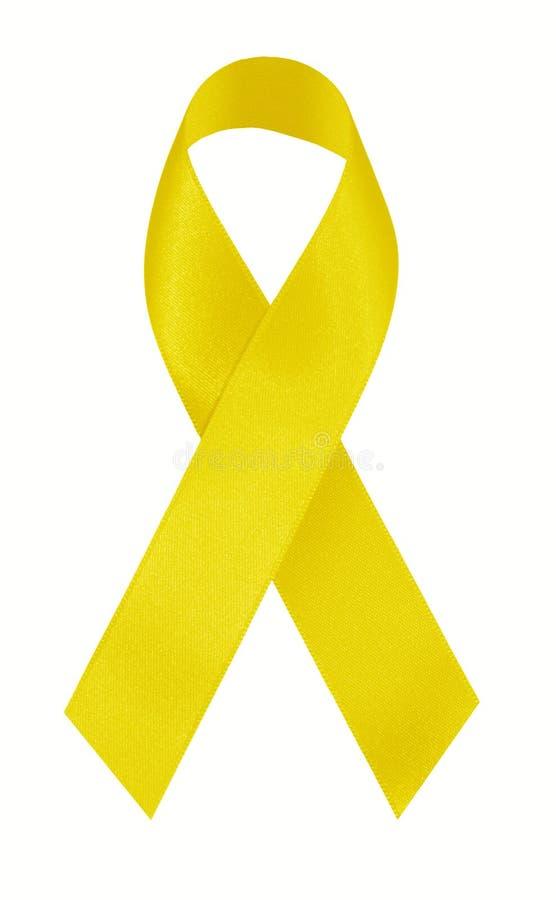 丝带黄色 免版税库存照片