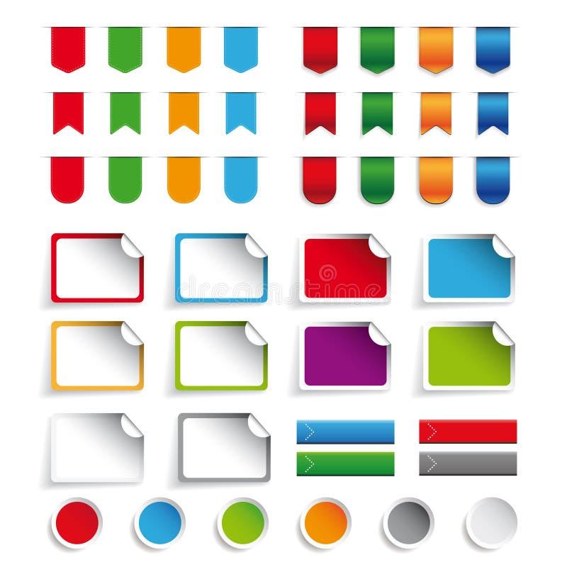 Download 丝带,贴纸,标号组传染媒介 向量例证. 插画 包括有 庆祝, 角落, 空白的, 丝带, 装饰, 要素, 纸张 - 72374571