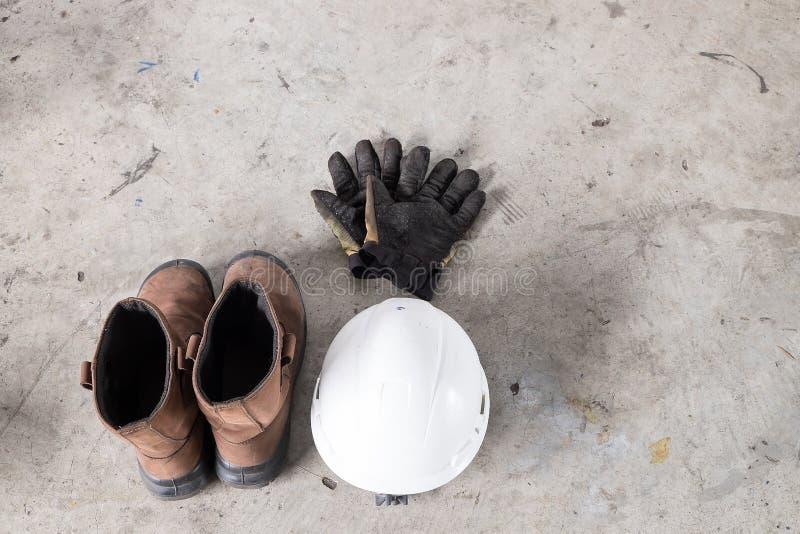 丝毫背景的个体防护用品PPE 库存照片