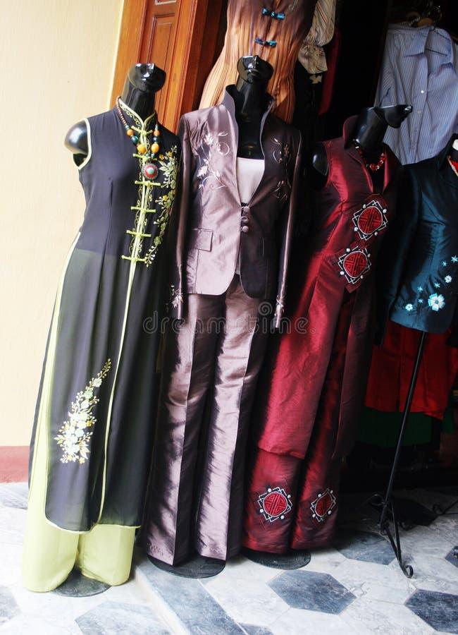 丝绸传统越南语 图库摄影